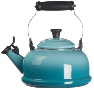 Le Creuset Enamel on Steel Whistling Tea Kettle, 1.7 qt. Caribbean