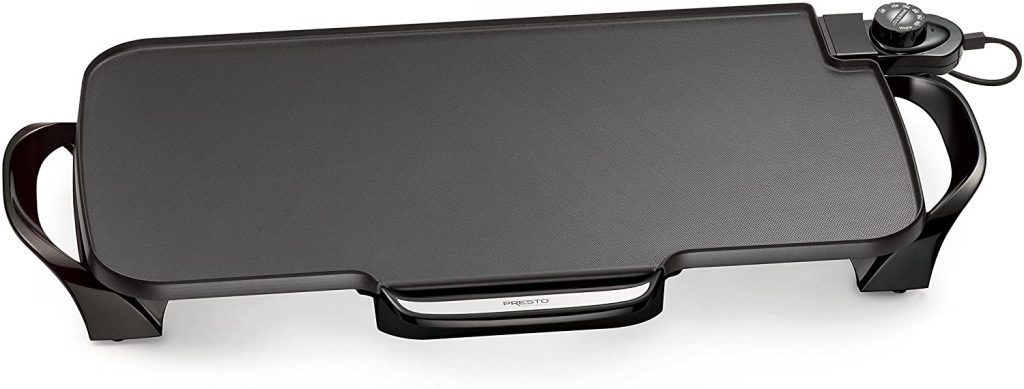 Presto 07061 22-inch Electric Griddle with Removable Handles, Black