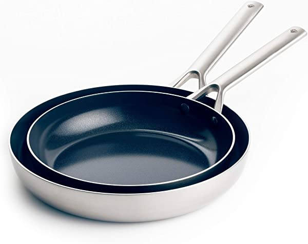 Blue Diamond Cookware Triple Steel Ceramic Nonstick Frying Pan Set