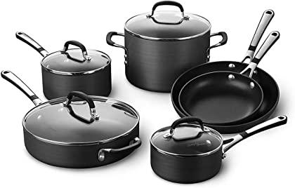 Calphalon Simply Pots and Pans Set, 10 Piece Cookware Set
