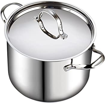Cooks Standard Quart Classic Stainless Steel Stockpot with Lid