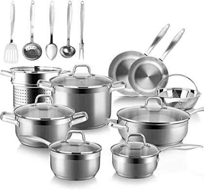 Duxtop SSIB Stainless Steel Cookware Set