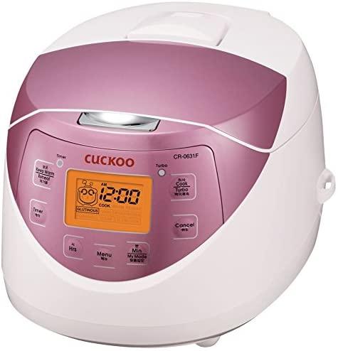Cuckoo CR-0631F 6-cup Multifunctional Micom Rice Cooker & Warmer